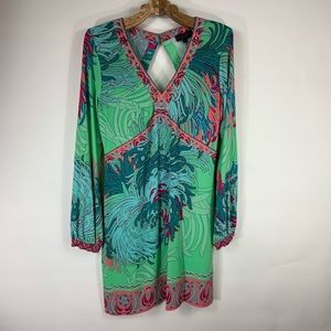 Hale Bob Jersey Dress Tropical Sz Medium
